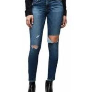 Frame Denim Le Highh Skinny Distressed Jeans 28